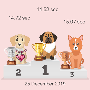 Litecoin pet racing podium