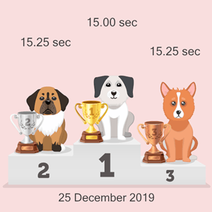 virtual pet race results