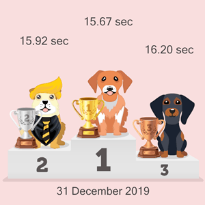 crypto doggy racing results