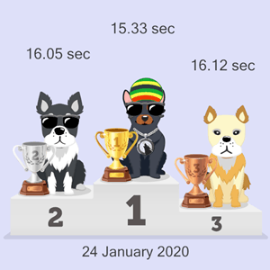 crypto canine race results